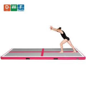 """10ft 4/"""" Airtrack Inflatable Gymnastics Mat Air Track Tumbling Floor Mat Pump"""