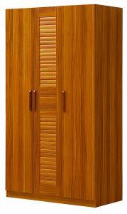 Solid Wood Wardrobe Simple 3 Doors Wardrobe For Bedroom