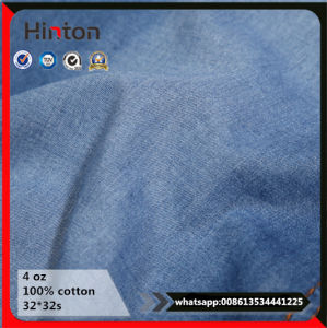 Hot! ! Yarn Dyed 32s*32s 4oz 100% Cotton Denim Fabric pictures & photos