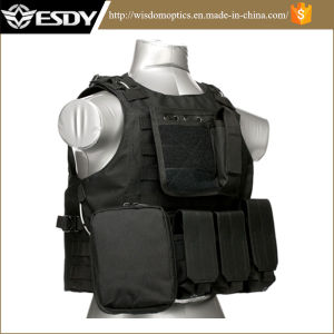 Black Tactical Airsoft Vest Paintball Combat Safety Military Vest pictures & photos