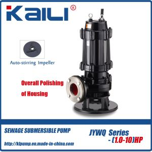 Integral Stainless Steel JYWQ Auto-stirring Sewage Submersible Pump for Dirty Water pictures & photos