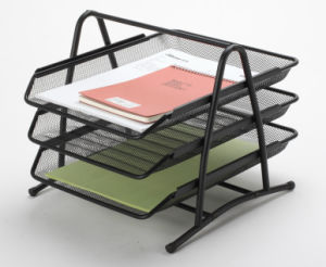 china office desk trays metal mesh stationery file tray office