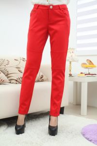 Stock! Red Color Ladies Pants pictures & photos