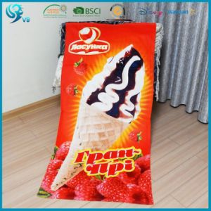 100% Cotton Cmyk Printed Customized Summer OEM Beach Towel