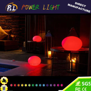 Glowing Waterproof Floating Pool Stone Light LED Oval Lamp pictures & photos