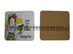 Square Comic Charactor Printing Cork Coaster pictures & photos
