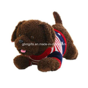 Plush Toy with Deep Brown Simulation Teddy Dog
