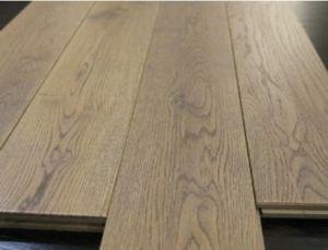 150x18mm Wire Brushed Grey Solid Oak Wide Plank Hardwood Flooring
