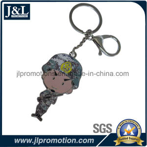 Customer Logo Metal Keychain with Printing on Backside pictures & photos