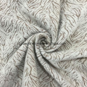 Marble Style Jacquard Wool Fabric in Ready