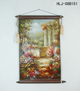 Classical Garden Pattern Home Decorative Canvas Hanging Paintings