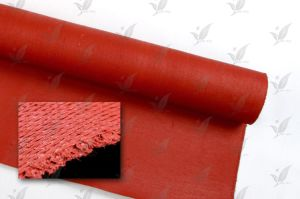 One Side Silicon Coated Glass Fabric Red Colour pictures & photos