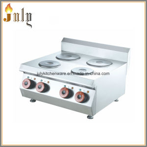 Tabletop Stainless Steel Electric 4 Burner