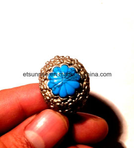 Semi Precious Stone Crystal Turquoise Flower Carving pictures & photos