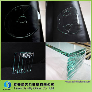 Tempered Float Instrument Glass with Polished Edge or Drilling Holes
