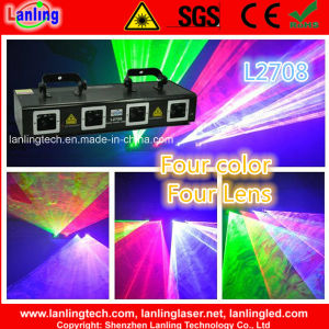 1W Four Head Full Color Laser Disco Lighting for Wedding Party pictures & photos