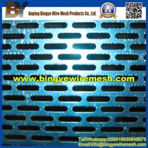 Aluminum Oblong Perforated Metal Mesh for Cladding pictures & photos