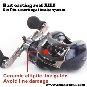 Six Pin Centrifugal Brake System Bait Cast Reel pictures & photos