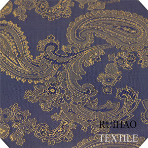 Polyester Rayon Viscose Twill Warp Elastic Fabric with Jacquard
