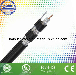 Digital Satellite RG6 Quad-Shield Coaxial Cable with Messenges