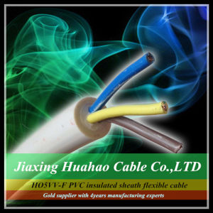 Ho5VV-F 2core 3core 4core Copper/CCA Conductor PVC Insulated Sheath Flexible Cable pictures & photos