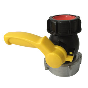 Plastic Ball Valve with Metal Collar for IBC Container