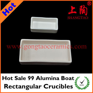 Hot Sale 99 Alumina Boat Rectangular Crucibles pictures & photos
