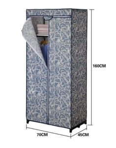 Foldable Non-Woven Wardrobe or Sliding Storage Protable Non-Woven Wardrobe
