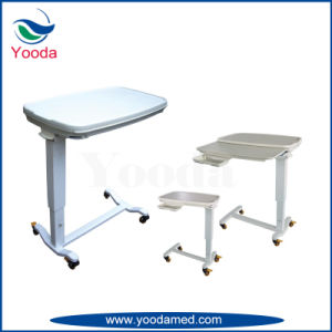Hospital Overbed Table With Two Drawer