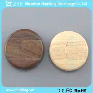 High Speed UDP Chip Mini Round Wood USB Stick (ZYF1322)