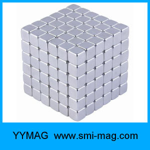 5*5*5mm 216PCS Gold Coated Cube N35 Block Neodymium Magnet pictures & photos