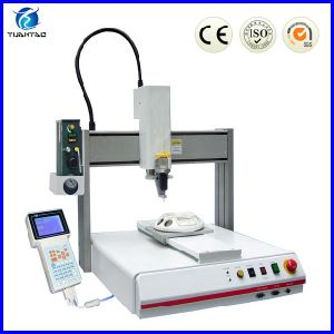 CE Certification Desktop Type Automatic Glue Plastisol Liquid Dispensing Machine pictures & photos