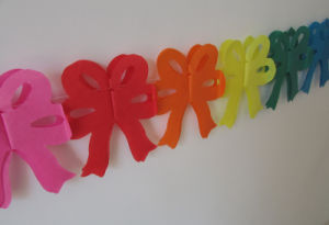 Colorful Bowknot Paper Garlands for Party Decoration