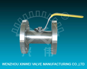 Cantonese Stainless Steel Flanged Ball Valve pictures & photos