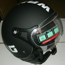 Jet Helmet Color Matt Black