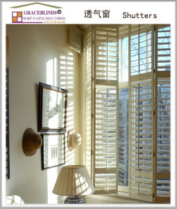 Real Wood Window Shutter Plantation Shutters pictures & photos
