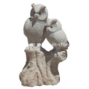 Cheap Natural Granite Stone Owl Statue for Outdoor Garden / Landscape pictures & photos