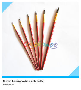 6PCS Wooden Handle Animal Fiber Hair Artist Brush for Painting and Drawing (red color) pictures & photos