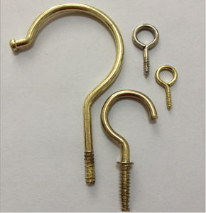 Customized Brass Screw Eye Hook, Screw in Eye Hooks Manu Facturer (ATC-271) pictures & photos