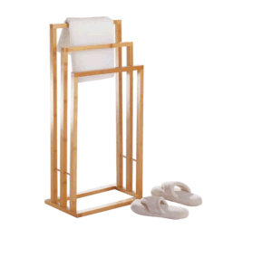 Bamboo Bathroom Accessories Bath Sets Stand Towel Shelf Holder Rack pictures & photos