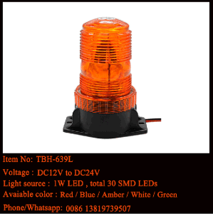 Forklift LED Mini Beacon in Amber Color, 110-120AC Voltage pictures & photos