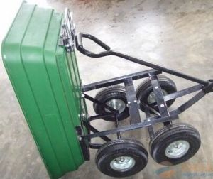 Plastic Dump Cart with Four Wheel