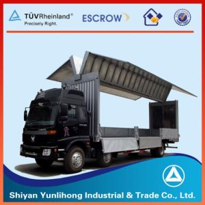Dongfeng 6X2 Side Wing Open Van Truck pictures & photos