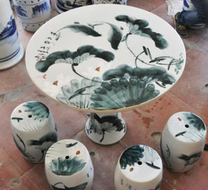 Chinese Antique Porcelain Table & Stool pictures & photos