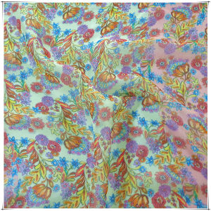 Chiffon Silk Fabrics with Printed pictures & photos
