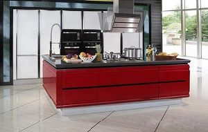 Economical and Practical Project PVC Kitchen Cabinet pictures & photos