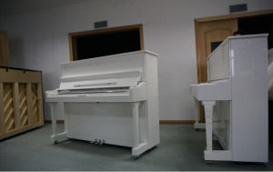 [Chloris] Shanghai Brand Piano Hu-126 White Polish Upright Piano