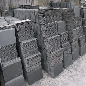 Natural Grey Slate Stone Tiles for Roofing and Wall Cladding