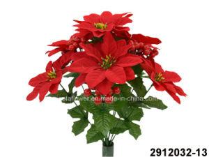 China Artificialplasticsilk Flower Poinsettia Berry Bush 2912032