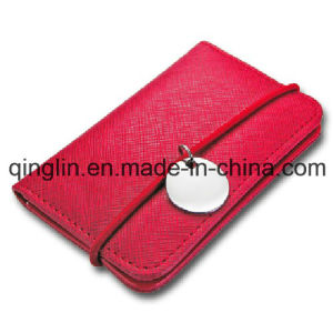 Promotional Gift Creative Design PU Leather Business Card Case (QL-MPH-0007)